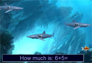 Addition game - Sharks Shooting