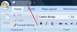 The Repeat (redo) button in MS Office