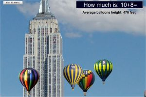 Addition game - Empire Sate Building and Balloons