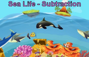 Sea Life Subtraction Game