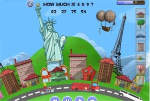Multiplication Game - Town Creator