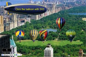 Multiplication game - Central Park Hot Air Balloons