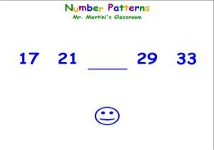 Math Number Pattern Game For Kids - Smiley Sequences