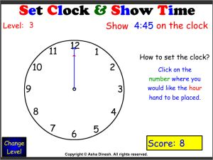 Set Clock and Show Time