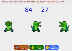 Online Comparing Numbers Activity