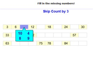 Fill in the Missing Numbers