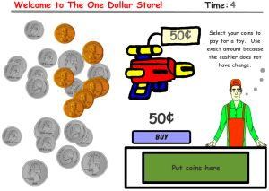 Math Money Game - The One Dollar Store