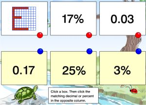 Rubber Relating Percentage Game With Decimals