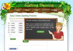 Online Spelling Training