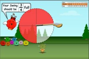 Jelly Golf Fractions Game