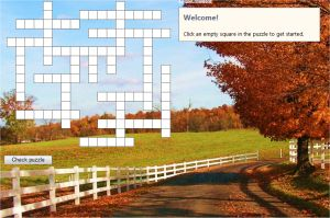 Online Fall Crossword Puzzle For Kids - Free Autumn Crossword 2nd 3rd 4th grade