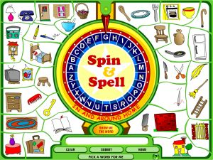 Spin and Spell (Nouns and Verbs)